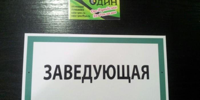 Таблички Детский сад «Капитошка»